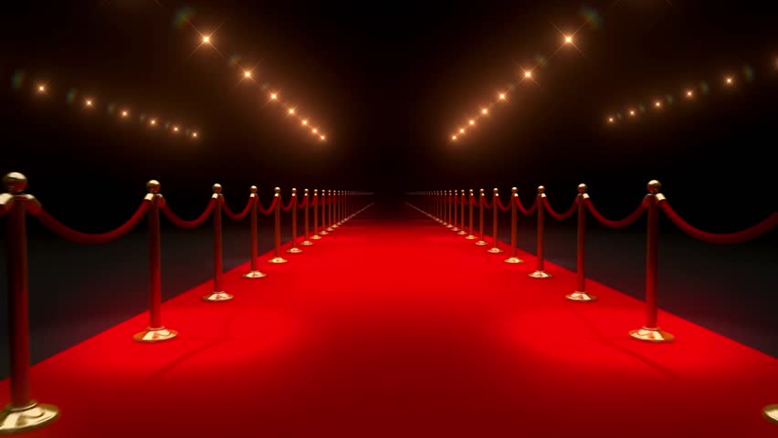 Black and white theater curtains - Red Carpet With Gold Barriers Velvet Ropes And