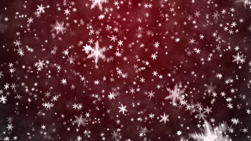 Christmas background with snowflakes - falling snow  - HD stock footage clip