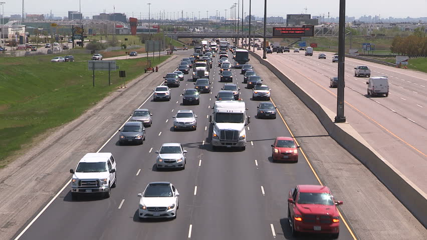 Toronto, Ontario, Canada May 2016 Epic highway traffic jam gridlock on holiday weekend in summer | Shutterstock HD Video #16808875