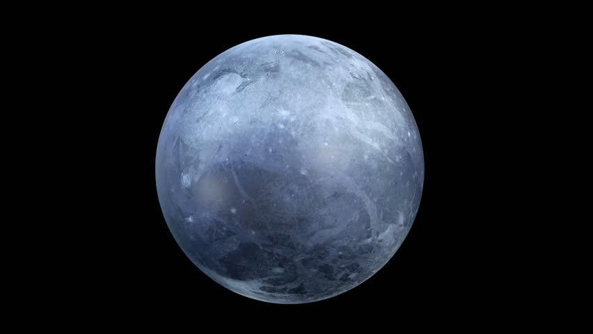 3D CG rendering of Pluto - 4K stock footage clip