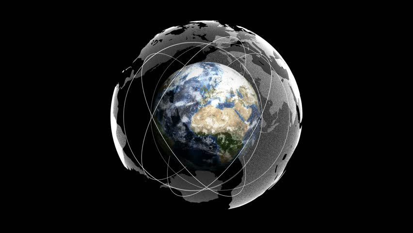 Earth, Connection Network Concept, with Alpha Channel, Loop, 4k  - 4K stock footage clip