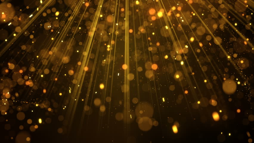 Lots of gold glitter particles falling in light rays. Holiday abstract seamless loop animation background 4k (4096x2304)  | Shutterstock HD Video #16825669