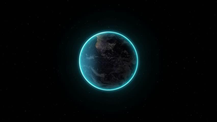 space junk simulation - 4K stock video clip