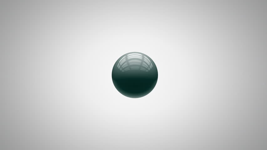 Abstract sphere animation, with matte - HD stock video clip