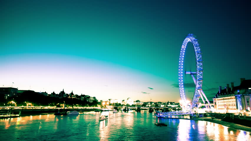 The Millennium Wheel and Thames River Timelapse