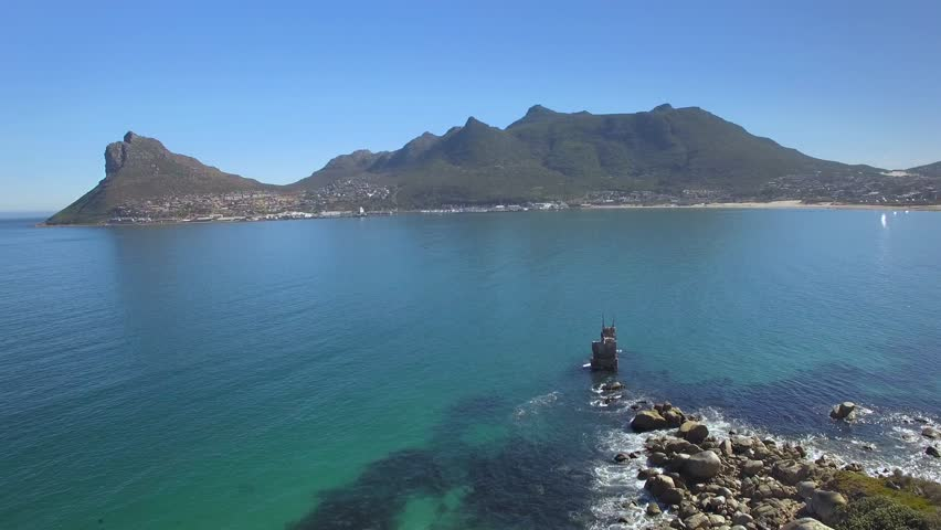 Hout Bay Mountain 4K UHD aerial footage from cliff coastline. Cape Town South Africa. Part 1 of 3 | Shutterstock HD Video #16976320