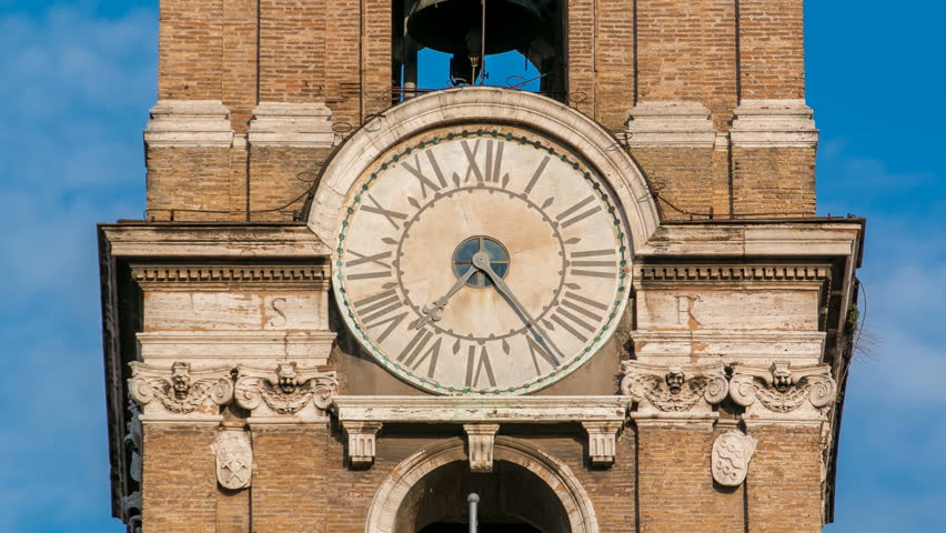 Giant Outdoor Clock Stock Footage Video 80491 Shutterstock