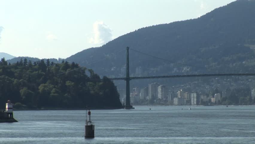 Vancouver bay area - HD stock video clip