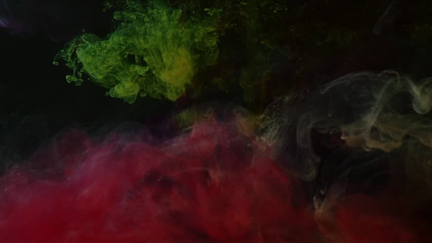 inks in water, colorful abstraction - HD stock video clip