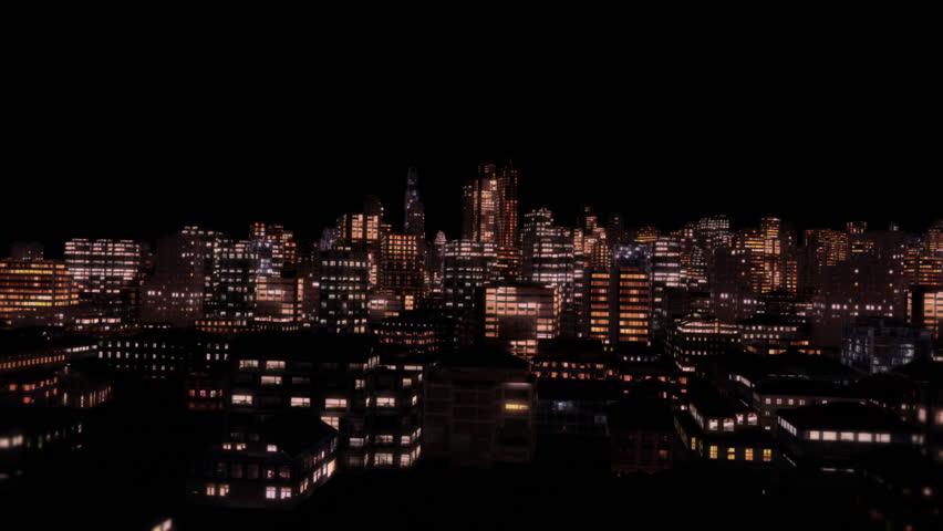 Through City Night Flight