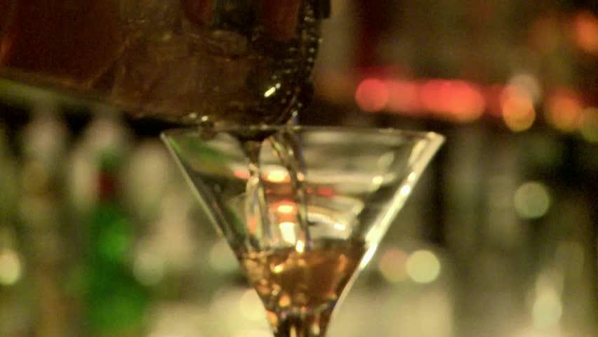 Cocktail being prepared