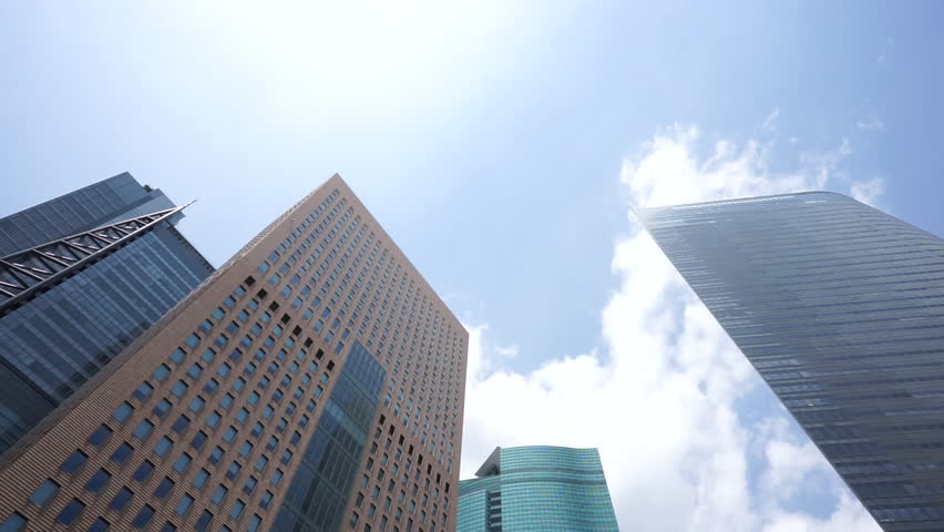 Metropolis of business district - HD stock footage clip