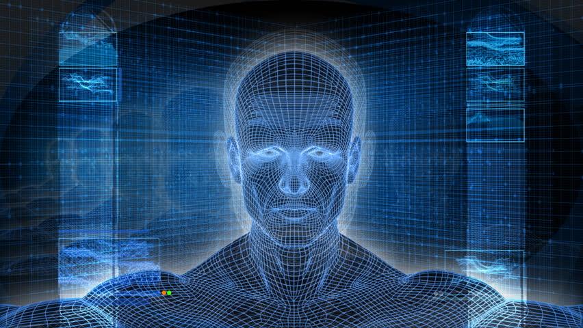 Bionic 3D Man Profile HD Loop