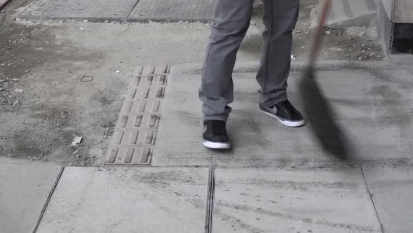 Man Walking Top View Fish Eye Lens Stock Footage Video