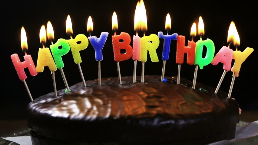 Birthday Cake Candle Images Free Download : Happy Birthday Candles On Birthday Cake With Melting Wax ...
