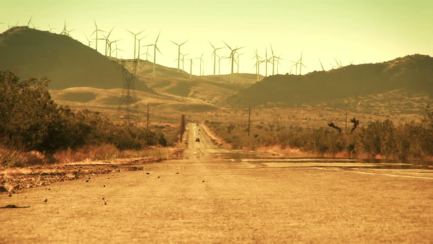 Desert Road and Wind Farm
