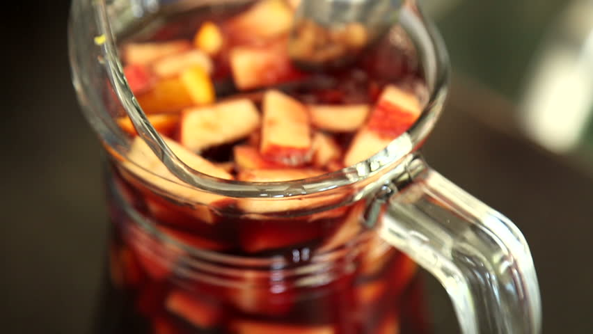 The alcoholic beverage Sangria - HD stock video clip