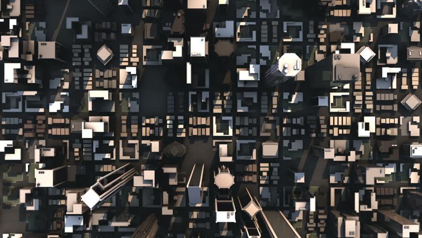 Aerial City Buildings HD Loop