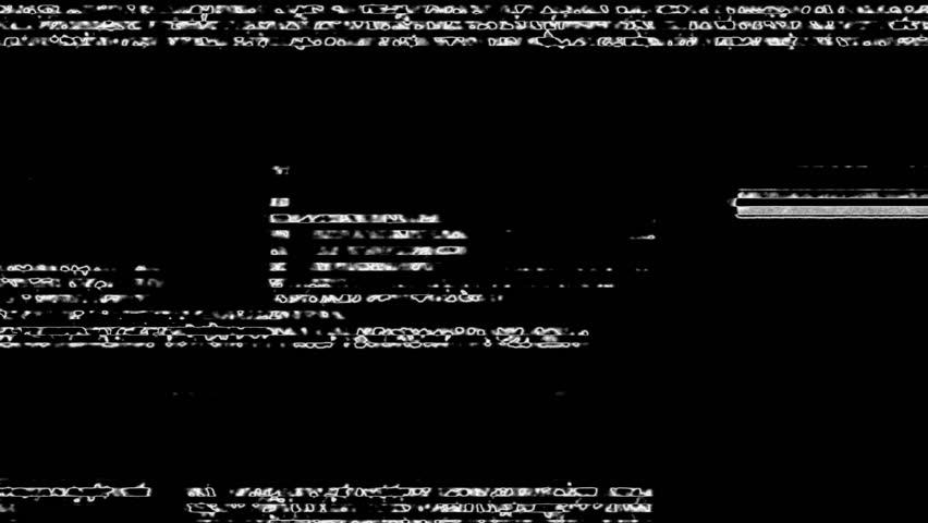 White Noise On Black Glitch Video Damage Background | Shutterstock HD Video #17399959