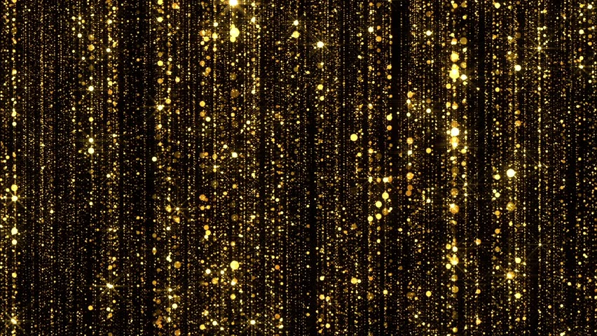 Gold Particles Glitter Glamour Rain | Shutterstock HD Video #17414089