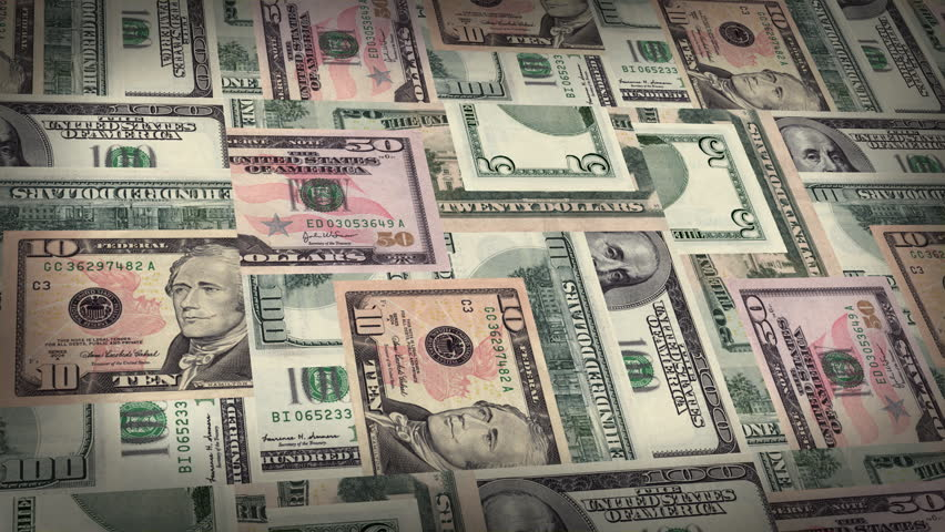 Montage of US Money Burns to Reveal the Word DEBT - HD stock footage clip