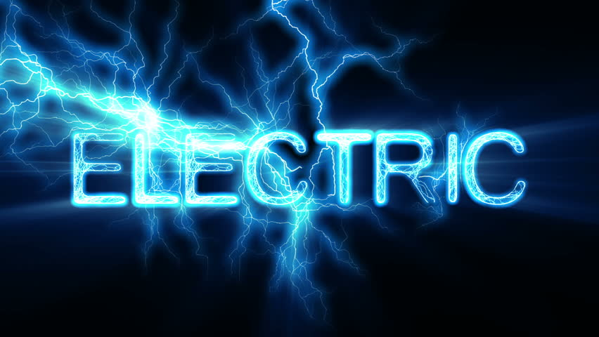 Electric Word Text Animation with Electrical Lightning
