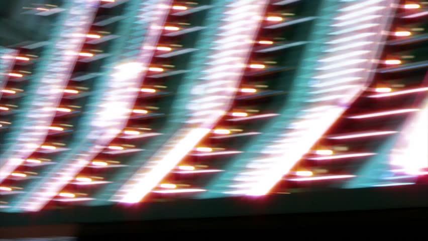 Las Vegas Casino Neon Sign with Flashing Light Bulbs