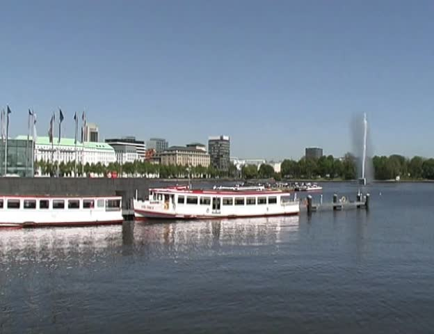 Inner Alster Hamburg city scene, Germany | Shutterstock HD Video #175093
