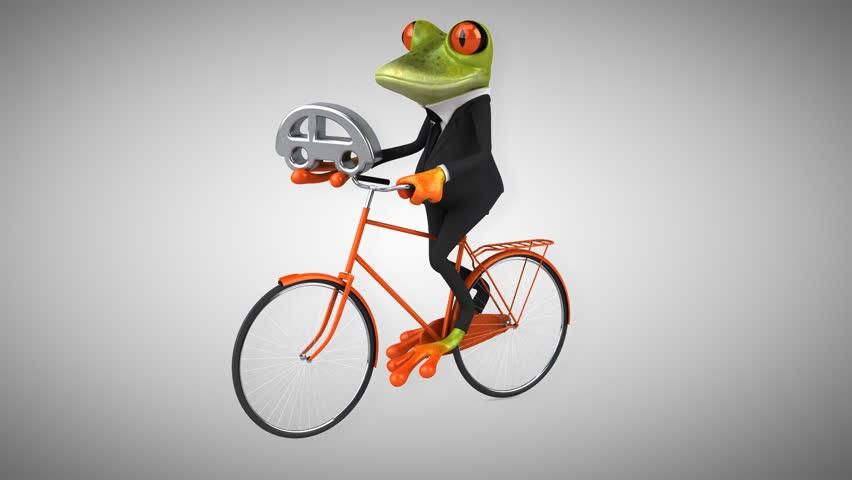 Fun frog - Digital animation - HD stock video clip