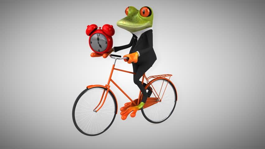 Fun frog - Digital animation - HD stock footage clip