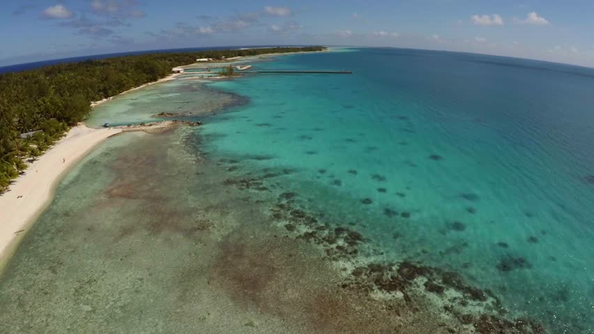 Drone in Tikehau, Tahiti , French Polynesia | Shutterstock HD Video #17554516