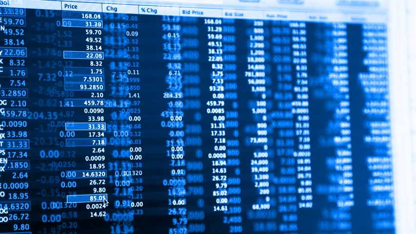 Stock Market Live Quotes Streaming Financial Data Stock Footage Video 1764326 - Shutterstock