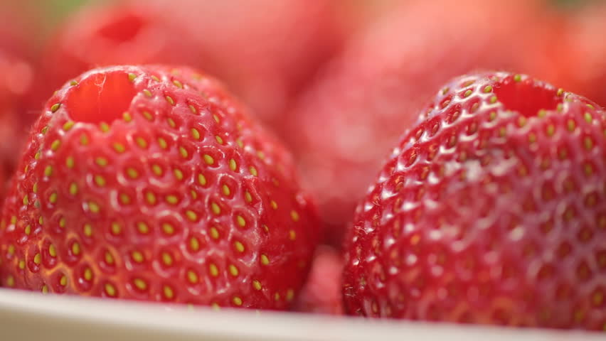 Strawberry with a through hole inside | Shutterstock HD Video #17647081