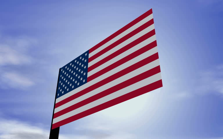 Waving US-Flag in 1080i hdtv. - HD stock footage clip