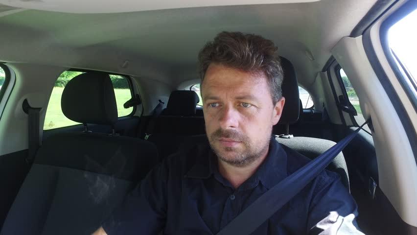 Man in the car driving | Shutterstock HD Video #17846431
