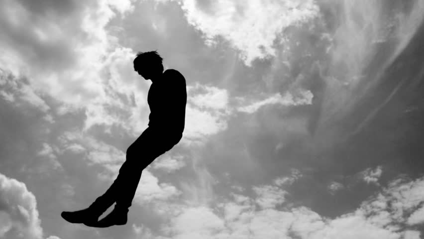 Silhouette of trampoline jumper.  | Shutterstock HD Video #17916379