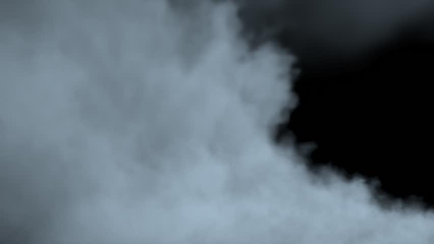 Passage through the fog/steam/smoke with alpha matte.