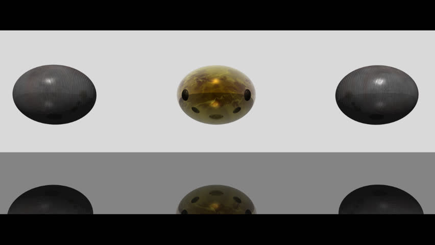 Transformation of  spheres: from steel to glass and back.
