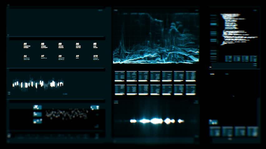 Futuristic digital interface screen | Shutterstock HD Video #18023470