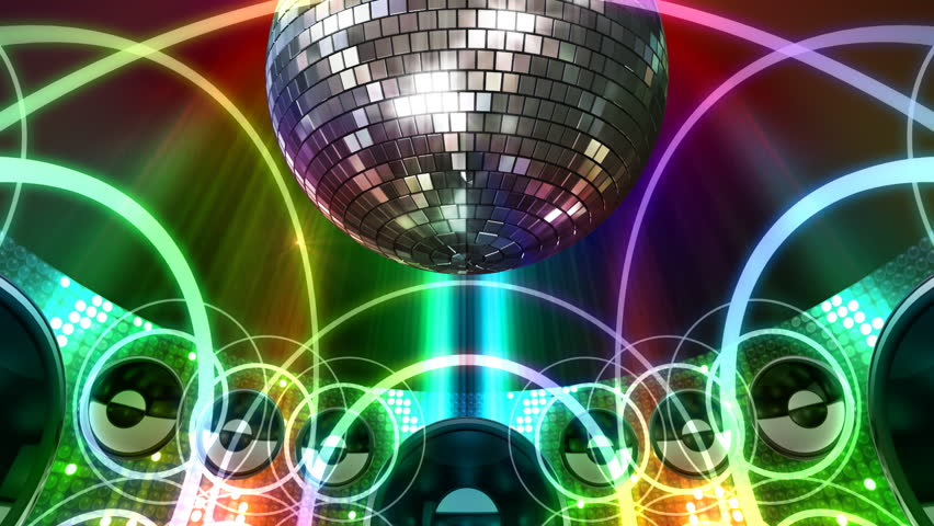 Disco and Club Space. - HD stock video clip