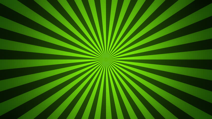green radial spinning motion background seamless loop