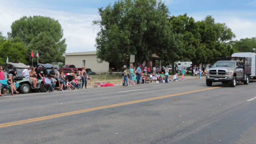 Fountain Green Utah Jul 2014 Aerial Rural Parade Sheep