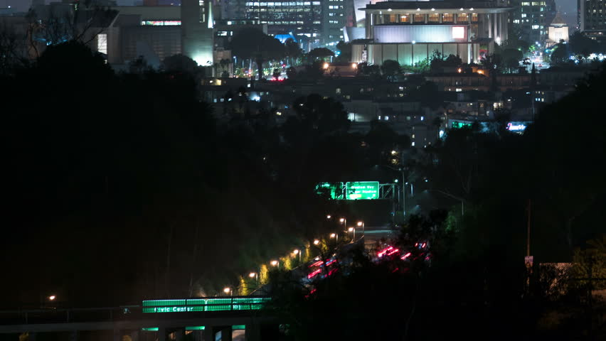 Los Angeles Skyscrapers 29 Time Lapse Night   Shutterstock HD Video #18202399