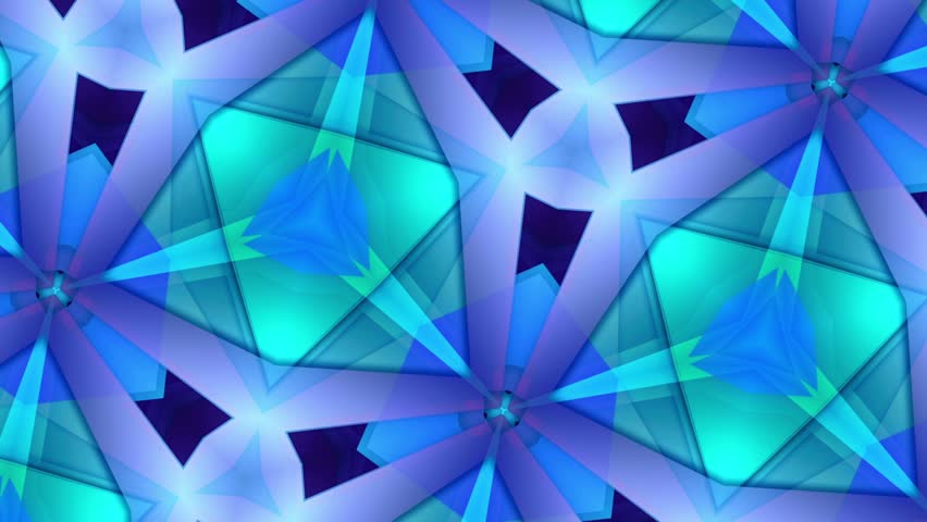 Color Kaleidoscope - Blue - Best Move and Rotate - 3