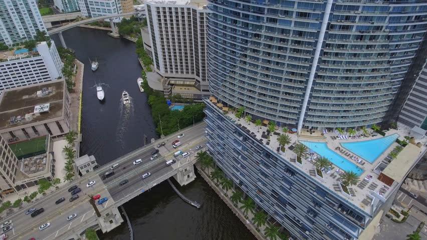 Aerial over the Miami River | Shutterstock HD Video #18225475