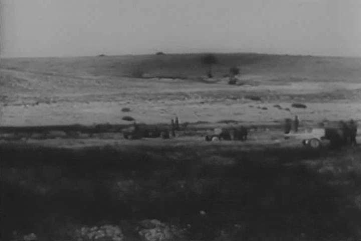 Lieutenant General George Smith Patton, Jr., Gorkha regiments and American and British armed forces participate in the Battle of Tunisia, during World War II. (1940s) - SD stock video clip