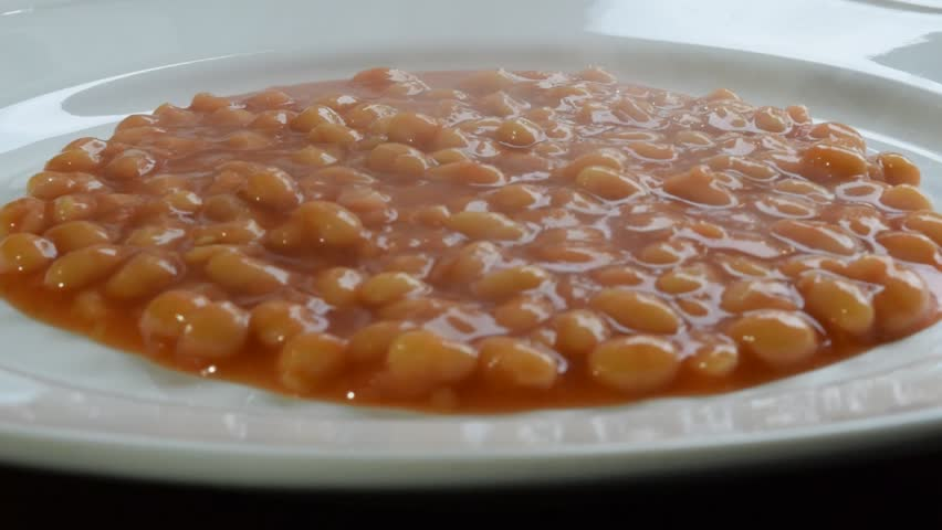 baked beans being served