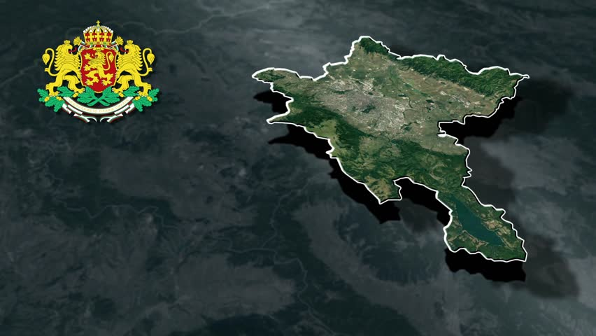 Sofia City with Coat Of Arms Animation Map Provinces of Bulgaria