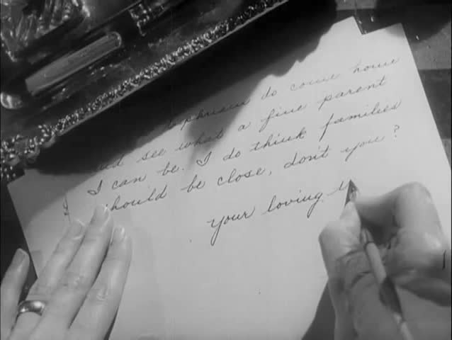 Close-up hands of woman writing letter - SD stock footage clip