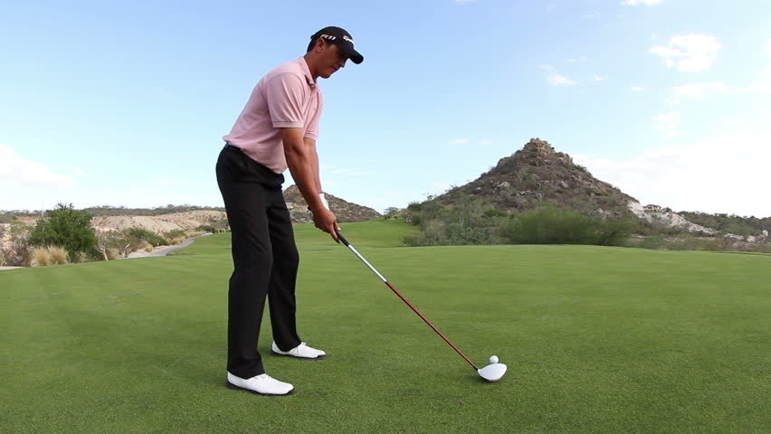 pro golfer on a world class golf course